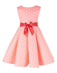 ae0427cf477e5 Heart Jacquard Dress Saia Infantil, Vestido Infantil Festa, Vestido De  Luxo, Modelos Infantis