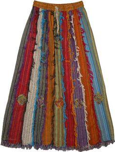 "TLB - Barista Patchwork Cotton Frill Skirt - Length: 36""; Waist: 28""- 34"" TLB http://www.amazon.com/dp/B00FIVE890/ref=cm_sw_r_pi_dp_MmqAub1NE8NJT"