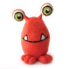 Cute Monster Needle Felted Friendly Monster Soft by RolyzTreasures, $49.50