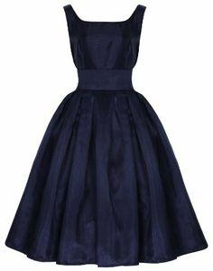 Lindy Bop 'Lana' Classic Elegant Vintage 1950's Prom Dress Ball Gown: Amazon.co.uk: Clothing