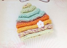 Fall Baby Hat with Mini Flower