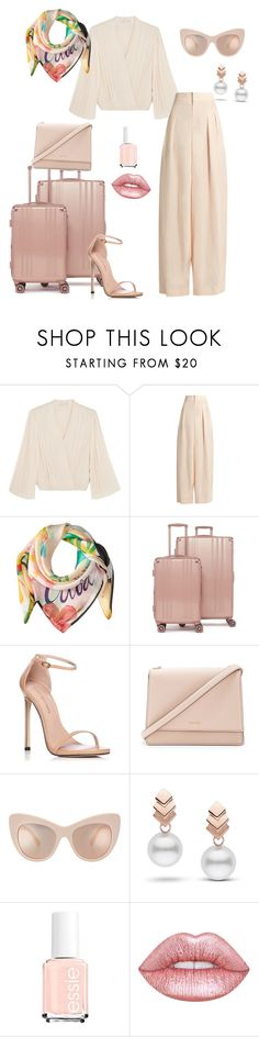 """""""Untitled #66"""" by ladyasdis ❤ liked on Polyvore featuring Alice + Olivia, Chloé, Echo Design, CalPak, Stuart Weitzman, Kate Spade, Escalier and Lime Crime"""