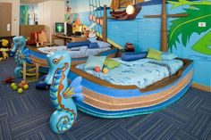 Kidsuites at the Holiday Inn Phuket Resort —Phuket: As if relaxing on the beaches of Phuket isn't exciting enough, Holiday Inn's Kidsuites are designed with a room within a room that is 100-percent kid-friendly. The pirate-themed rooms are furnished with bunk beds, TV and video, electronic games, a toy box, and PlayStation. The kids will never want to leave!  Source: Holiday Inn Suites