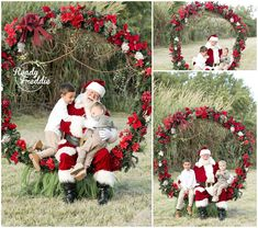 Outdoor Santa photos with giant wreath for Christmas Christmas Tree Lots, Christmas Mini Sessions, Christmas Mood, Christmas Minis, Babies First Christmas, Outdoor Christmas, Santa Pictures, Christmas Pictures, Outdoor Santa