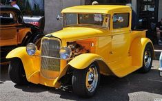 Hot Rods and Horsepower LLC | 1930 Ford pickup - mod - yellow - fvl | Pat Durkin | Flickr #classictrucks