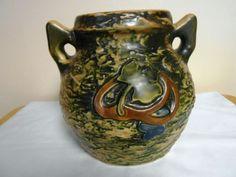 Vtg Textured Imperial 1 Roseville Vase Handles | eBay