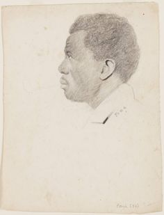 Pen-and-Ink drawings of the so-called Amistad prisoners, Africans, who,  after being abducted from their homeland, revolted and took control of the slave ship transporting them, killing many crew members. The drawings were made by New Haven resident William H. Townsend, while the captives were awaiting trial. More information and images of the complete collection can be found in the Beinecke's Digital Library: Drawings of Amistad Prisoners