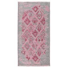 1600**Růžovo-šedý oboustranný koberec Maleah, 150x75cm