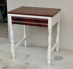 Antique Empire Side Table with Drawer Chalk by RepeatOffenders, $149.00