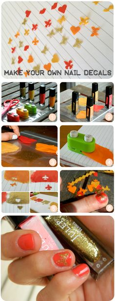 Make Your Own Nail Decals! --- Soooo cool!