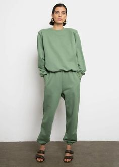 Vanessa Sweatpants in Mossy Green – Frankie Shop Europe
