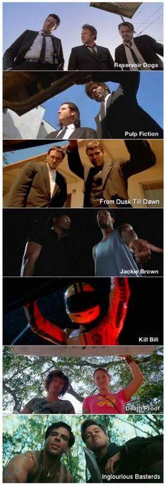 Tarantino XX: Collection (Reservoir Dogs / True Romance / Pulp Fiction / Jackie Brown / Kill Bill: Vol. 1 / Kill Bill: Vol. Pulp Fiction, Reservoir Dogs, Death Proof, Great Films, Good Movies, Love Movie, Movie Tv, From Dusk Till Down, Dusk Till Dawn
