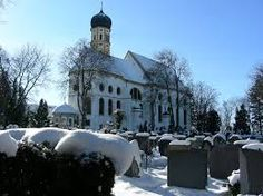 Stadtpfarrkirche und Friedhof, Marktoberdorf.
