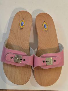 5036dd68e503 NEW Dr. Flip Flop SandalsFlip FlopsPink LeatherLeather Buckle ExerciseWoodItalyShoppingShoes