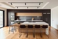 Image result for kitchens grey and timber