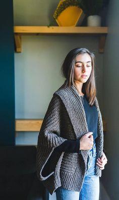 Veronika Cardigan Knitting Pattern PDF Cocoon Sweater Oversized Sweater Modern Rustic Textured #ad #etsy