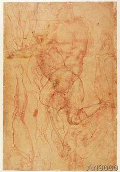 Michelangelo+Buonarroti+-+Figure+Study