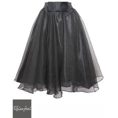 Black bow pleated skirts (44 CAD) ❤ liked on Polyvore featuring skirts