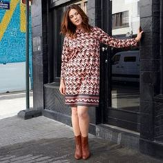 Robe imprimée en coton stretch CASTALUNA - Femme