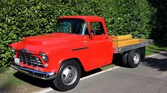 1956 Chevrolet 3800 Dually Flat Bed 235 CI presented as lot at Seattle WA 2015 - Train Truck, Truck Bed, Tow Truck, Dually Trucks, Ford Trucks, Custom Flatbed, Huge Truck, Classic Pickup Trucks, 1955 Chevy