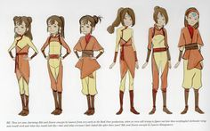 BK: These are some charming Ikki and Jinora concepts by Lauren from very early in the Book Four production, when we were still trying to figure out how these newfangled Airbender wing suits would work and what they would look like - that and what everyone's hair looked like after three years! Ikki and Jinora concepts by Lauren Montgomery