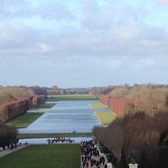 Jardines de Versalles en invierno.