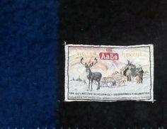 vintage blanket with label Wollen AaBe Dekens