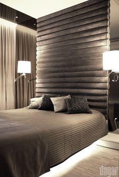 fot Dariusz Grabowski Bedroom, Interiors, Furniture, Grey, Fabric, Design, Home Decor, Bedrooms, Gray