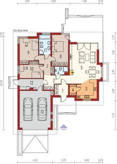 Eris II (wersja C) - projekt domu - Archipelag One Storey House, 2 Storey House Design, Modern Bungalow House, Bungalow House Plans, House Plans One Story, Tiny House Plans, Design Your Dream House, Modern House Design, Home Design Plans