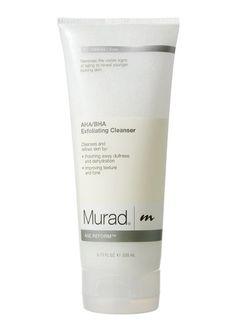 Murad AHA/BHA Exfoliating Cleanser. Really good stuff.