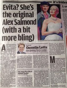 4 Star Review on the Daily Mail. 26th September 2014. http://www.madalenaalberto.com