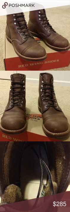 Boots Responsible Red Wing Iron Ranger 8111 Amber Harness Leather Size 11.5 Choice Materials