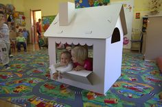 The playhouse is a popular toy that will provide hours of great fun. On the front side, the house is equipped with shutters that open and a flower pot, which can also be used to hold a variety of treasures. On the opposite side there is a wide shop-window and a long counter that can accommodate a lot of goods and allows for an easy conversion of the house into a shop or stall. On the entrance door there is a locking mailbox and its content... let it remain the secret of the property's…