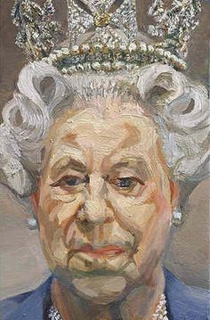 """Lucian Freud - Queen Elizabeth II, Oil on canvas """" The artist wrote to Buckingham Palace asking H. Queen Elizabeth II to attend numerous modeling sessions, a request which she, most unusually,. Lucian Freud Portraits, Lucian Freud Paintings, David Hockney, Sigmund Freud, Elizabeth Ii, Figure Painting, Painting & Drawing, L'art Du Portrait, Edward Hopper"""
