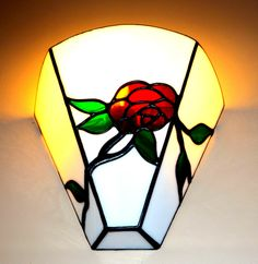 Wall Lamp - handmade stained glass