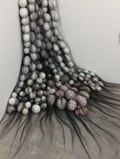 Great Art Activities in October Sydney Organic Sculpture, Soft Sculpture, Fabric Manipulation Techniques, Architectural Sculpture, Textiles, Textile Artists, Art Activities, Medium Art, Installation Art