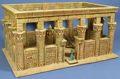 McGhiever's Fantasy Dioramas: Hirst Arts Castles Egyptian Wedding, Egyptian Temple, Egypt Decorations, Ancient Egypt Crafts, Hirst Arts, White Christmas Trees, Ancient Myths, Ancient Architecture, Dollhouse Miniatures