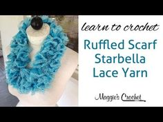 ▶ Starbella Lace Ruffled Scarf easy lesson with Maggie Weldon - YouTube