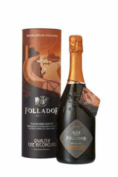Brut D. Superiore Valdobbiadene and its gift tube Italian White Wine, Wine Design, Label Design, Champagne, Wine Packaging, Wine Label, Sparkling Wine, Wine And Spirits, Wine Making