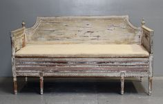 Maison & Co. Swedish Gustavian Settee ~ this Swedish bench was purchased in Provence.  $7,800.00