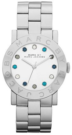 New Marc by Marc Jacobs Silver Amy Tainless Steel Ladies Latest Watch MBM3140 | eBay $160