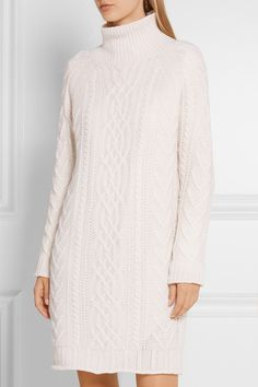 max mara granada cable knit wool and cashmere blend sweater dress net