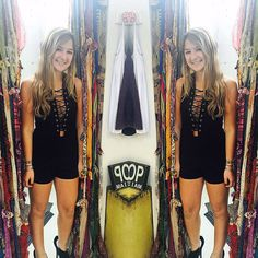 #beautiful #romper #laceup #pretty #ootd #potd #instylemagazine #instacool @carriesclosetshop