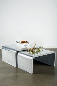 Beau Coffee Tables (aluminum covered wood)