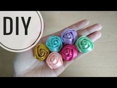 DIY || Cara Membuat Mawar Kuncup Model 1 || Rosebudd Tutorial - YouTube