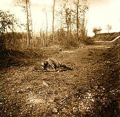 WWI; Chemin des Dames, corpse of French soldier. Private Collection C19048