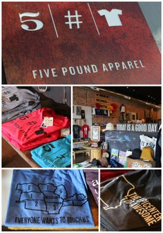 Finally, we can be proud of the money we spend on clothes! For every branded item they sell, Five Pound Apparel (in Springfield, MO) donates 5 pounds of nutritional peanut butter to fight malnutrition. Plus they have witty Missouri t'shirts :)    (Photos courtesy of Springfield CVB)