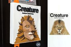 Book covers re-imagined in paper by Kelli Anderson.