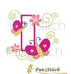 set of 9 butterfly birthday applique numbers machine by FunStitch, $6.50