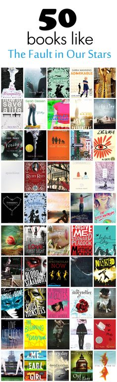 50 Books Like The Fault in Our Stars http://www.caffeinehappiness.com/2015/05/books-like-the-fault-in-our-stars.html